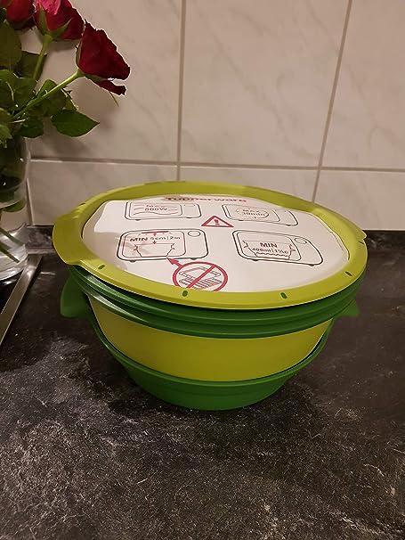 Tupperware Microondas Micro Gourmet Vaporera verde + Libro de ...