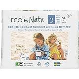 Naty By Nature Babycare Pannolini -Taglia 3, (4-9 kg), 6 confezioni da30 [180 Pannolini]