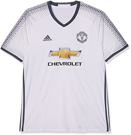 16b115abe00 adidas Manchester United FC Official 2016 17 SS Third Jersey - Adult -  White
