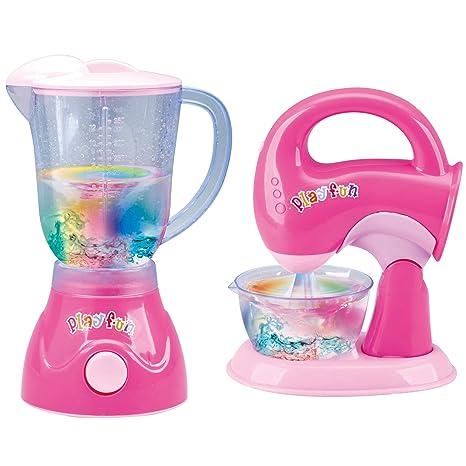 Pink Blender And Mixer Kitchen Appliances Toy Set For Kids