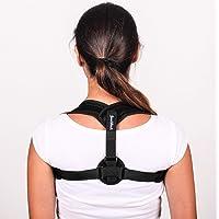 GoodBack Geradehalter zur Haltungskorrektur für eine gesunde Haltung - Rückenstütze, Haltungstrainer für Damen & Herren – Rückenstützgürtel bei Rückenschmerzen, extralanger Schultergurt