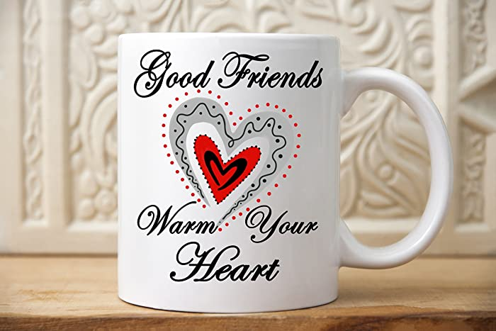 Amazon Com Good Friends Warm Your Heart Mug Gift For