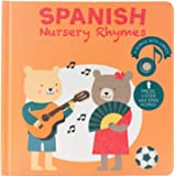 Cali's Books Spanish Nursery Rhymes Sound Book for Babies,Toddlers 1-3, 2-4 Girl and Boy. Bilingual Spanish Childrens Book. B