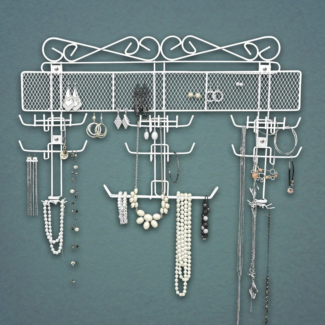 Sorbus Jewelry Hanger Organizer Valet - Great for Earrings, Bracelets, Necklaces, More