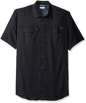 9e7c633082e Columbia Men's Big-Tall Silver Ridge Lite Short Sleeve Shirt, Black, ...