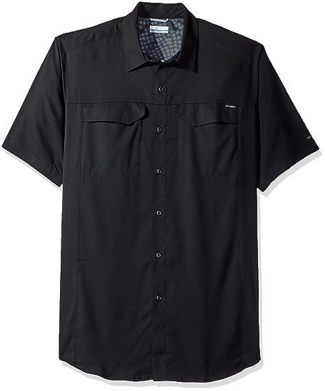 77648bf5b37 Columbia Men's Big-Tall Silver Ridge Lite Short Sleeve Shirt, Black, ...
