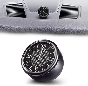 Silver Car Electronic Quartz Clock Luminous Car Accessories Ornaments Leopard