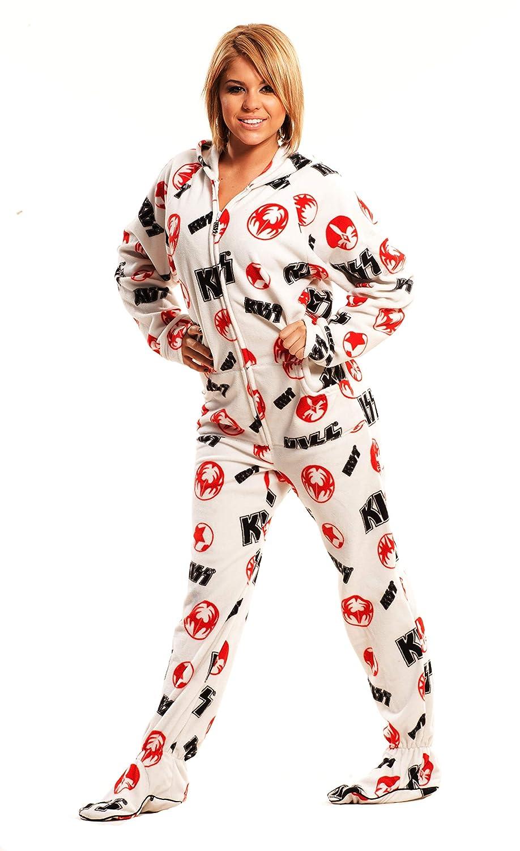 0aa3b72be Girls Footie Pajamas With White Lips