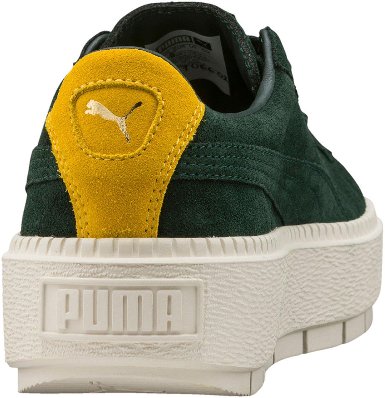 Puma PlatformTraceBold W Schuhe  36 EU|Gr眉n Gelb Wei?