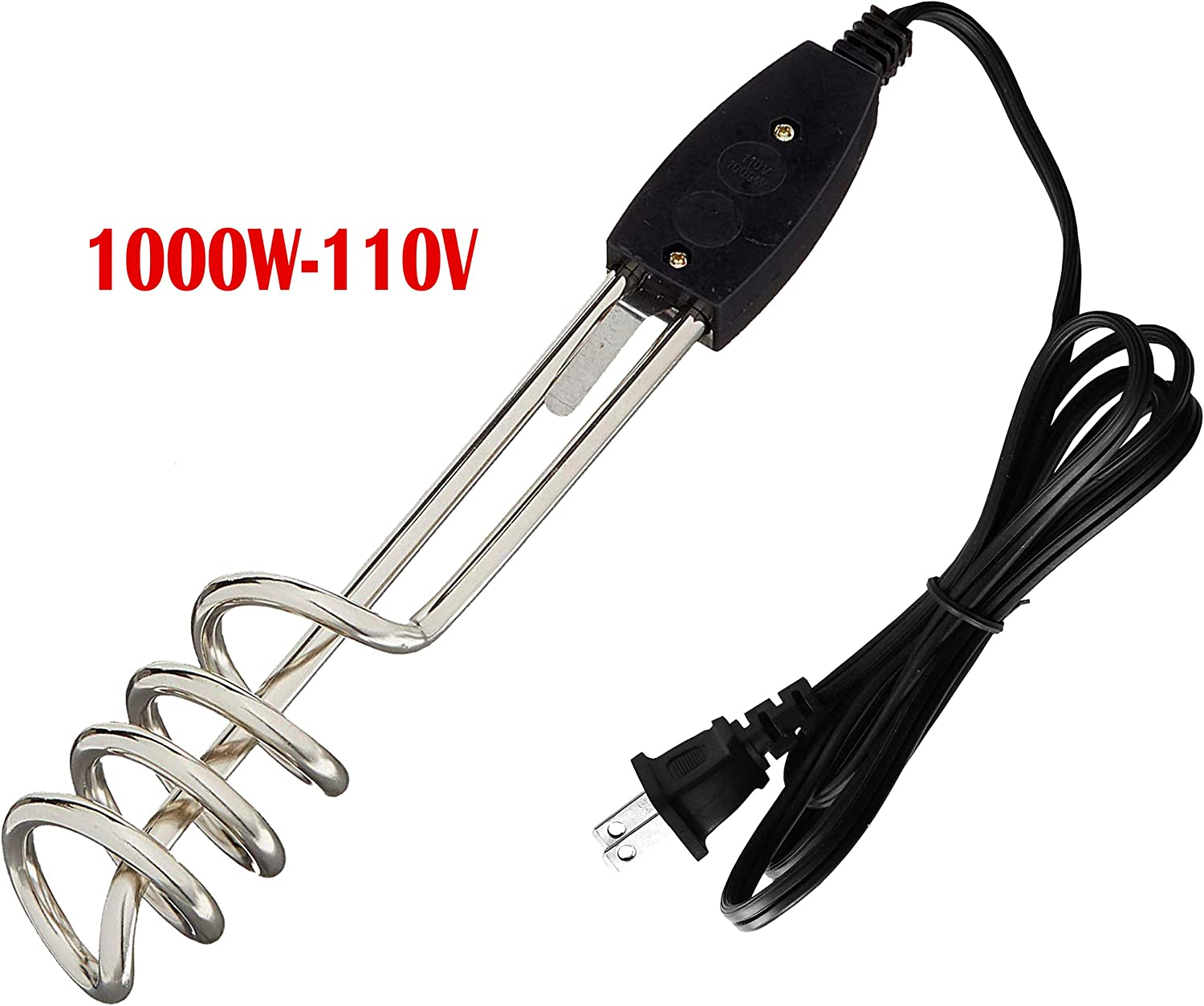 110V-1000W Water Heater Portable Electric Immersion Element Boiler Travel NEW