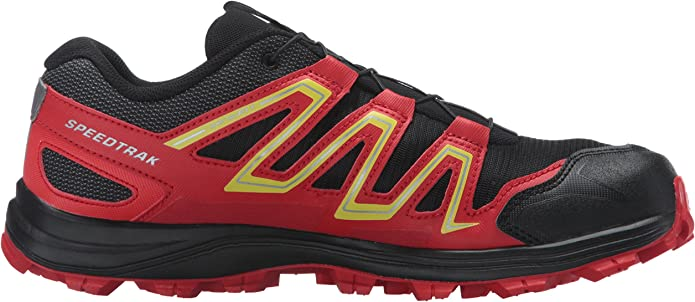Salomon Men's Speedcross 4 Trail Running Shoes Radiant Red Black Corona Yellow 12