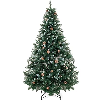 Best Choice Products 6ft Hinged Artificial Christmas Tree for Home Living  Room Festive Holiday Decoration w - Amazon.com: Best Choice Products 6ft Hinged Artificial Christmas