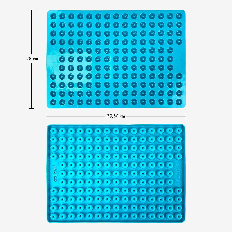 Antihaftend und Lebensmittelecht BPA-Frei Pralinenform marmoriert T/ürkis Collory Mini Donut Silikon Backform f/ür Hundekekse /& Hundeleckerlis Schokoladenform