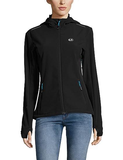 Ultrasport Advanced Chaqueta softshell para mujer Tina, chaqueta funcional moderna, chaqueta outdoor, Negro