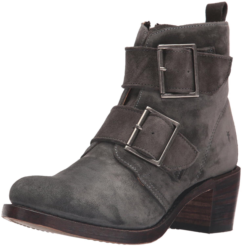 FRYE Women's Sabrina Double Buckle Suede Boot B01944B4HU 8.5 B(M) US|Charcoal