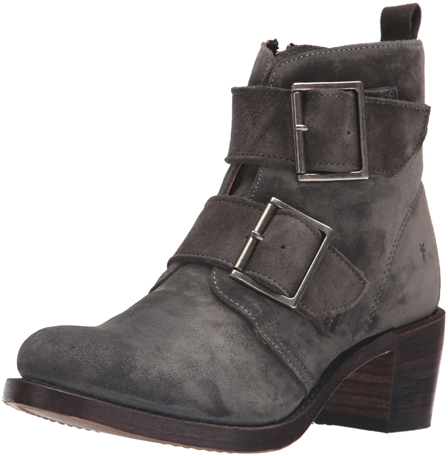 Anthracite FRYE Wohommes Sabrina Double Buckle Suede démarrage