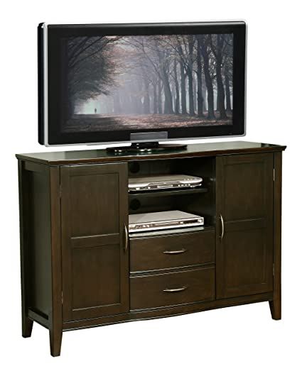 Amazoncom Simpli Home Williamsburg Tall Tv Media Stand For Tvs Up