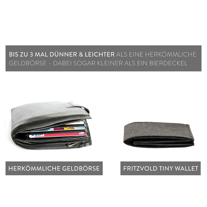 fe01eedf76ec9 Extrem Kleiner dünner Geldbeutel Herren mit Münzfach und RFID-Schutz für vordere  Hosentasche von FRITZVOLD - Kleine Geldbörse