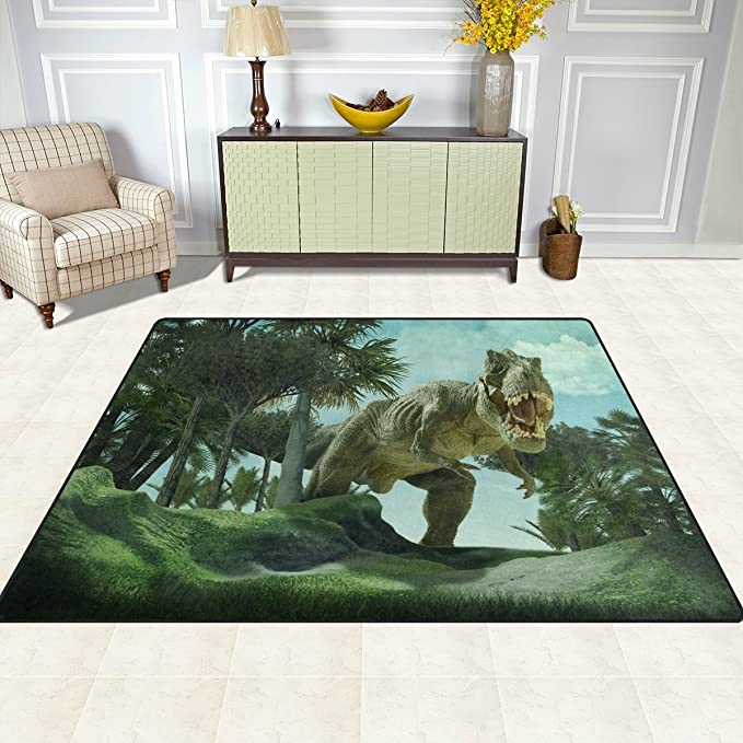 Amazon.com: ALAZA Super Suave Moderno 3d dinosaurio área ...