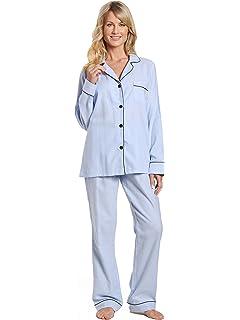 46be950ae0 Noble Mount Twin Boat Womens 100% Cotton Lightweight Flannel Pajama  Sleepwear Set