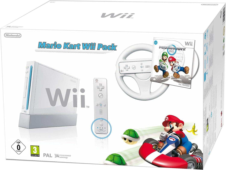 Console Wii Blanche + Jeu Mario Kart Wii [Importación francesa]: Amazon.es: Videojuegos