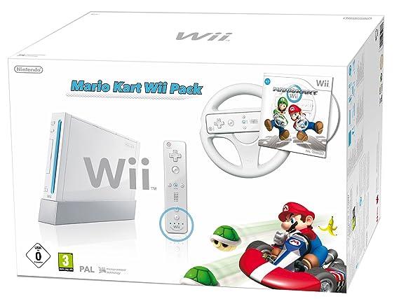Console Wii Blanche + Jeu Mario Kart Wii [Importación ...