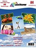 LabelHeaven Premium Fotopapier selbstklebend 100 Blatt A4 Highglossy hochglänzend wasserfest