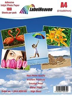 Papel fotográfico adhesivo Inkjet 100 hojas A4 135 gr.: Amazon.es ...