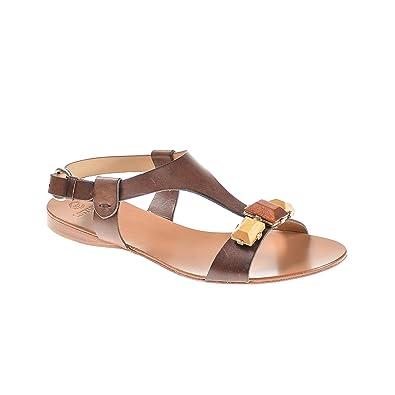 Lottusse Damen Sandale Leder Braun