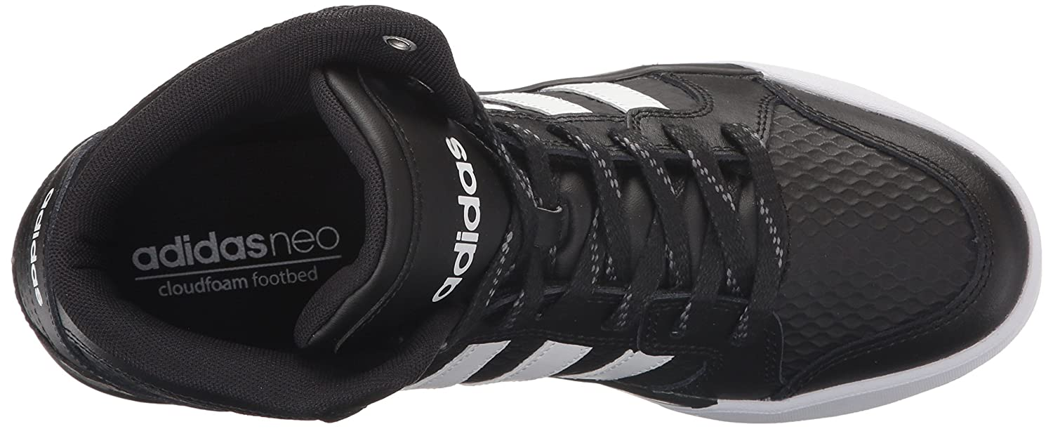 adidas NEO Men's Raleigh Mid Lace-Up Shoe Black/White/Black 9.5 M US NEO Child code (Shoes) AW5405