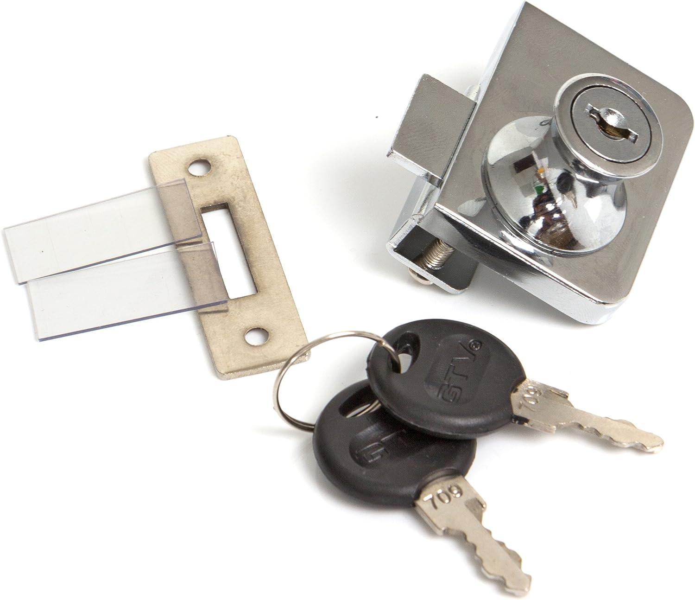 Metal para armario de cristal para cerradura cilíndrica de puerta Cam multiángulos para expositor para llave