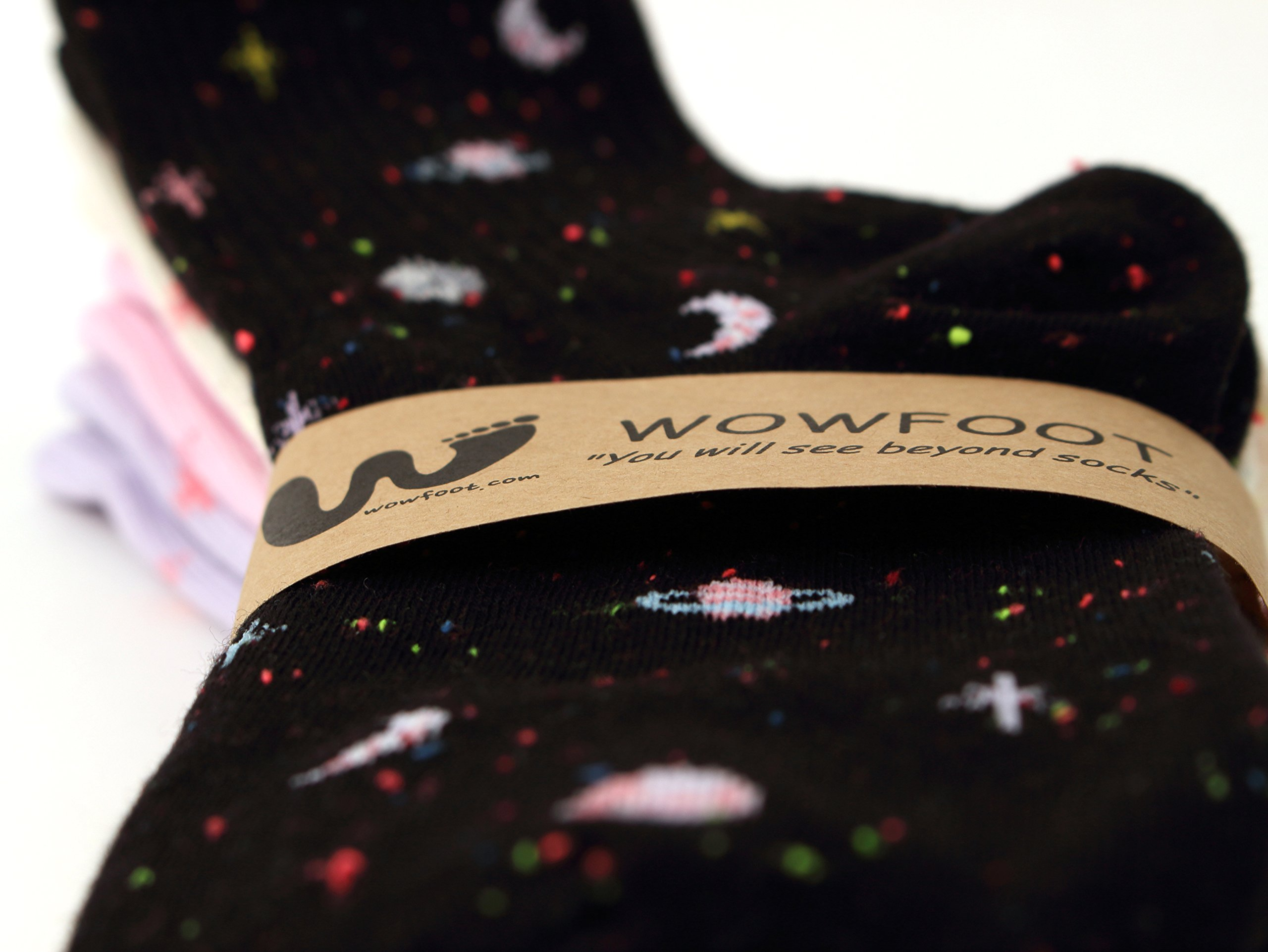 4 Pairs Space Women Galaxy The Universe Crew Socks Cotton Casual For Teenagers (4pairs - Space) by WOWFOOT (Image #4)