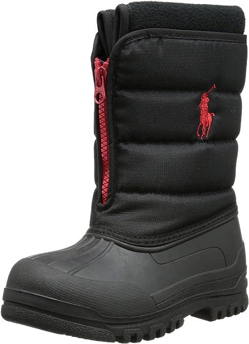 Polo Ralph Lauren Yukon Zip, Botas de Nieve para Niñas, Negro ...