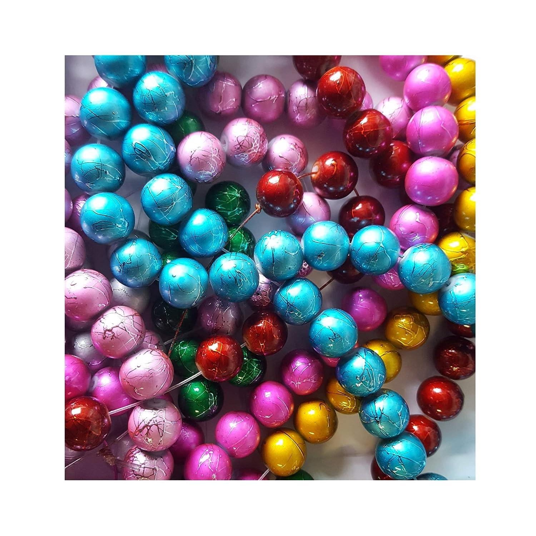 /Mixte/ /Kd0080//12/mm 50/pi/èces /Étirer en verre Perles rondes/
