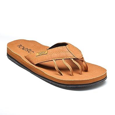 943885a5aced toesox Men s Encino Flat Teak Size 10