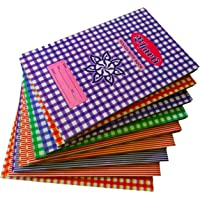 Hindu Brothers Hb's Single Line Rough Notebook, 216 Pages, 25.5 x 15.5 cm (Pack of 10, PDC20)