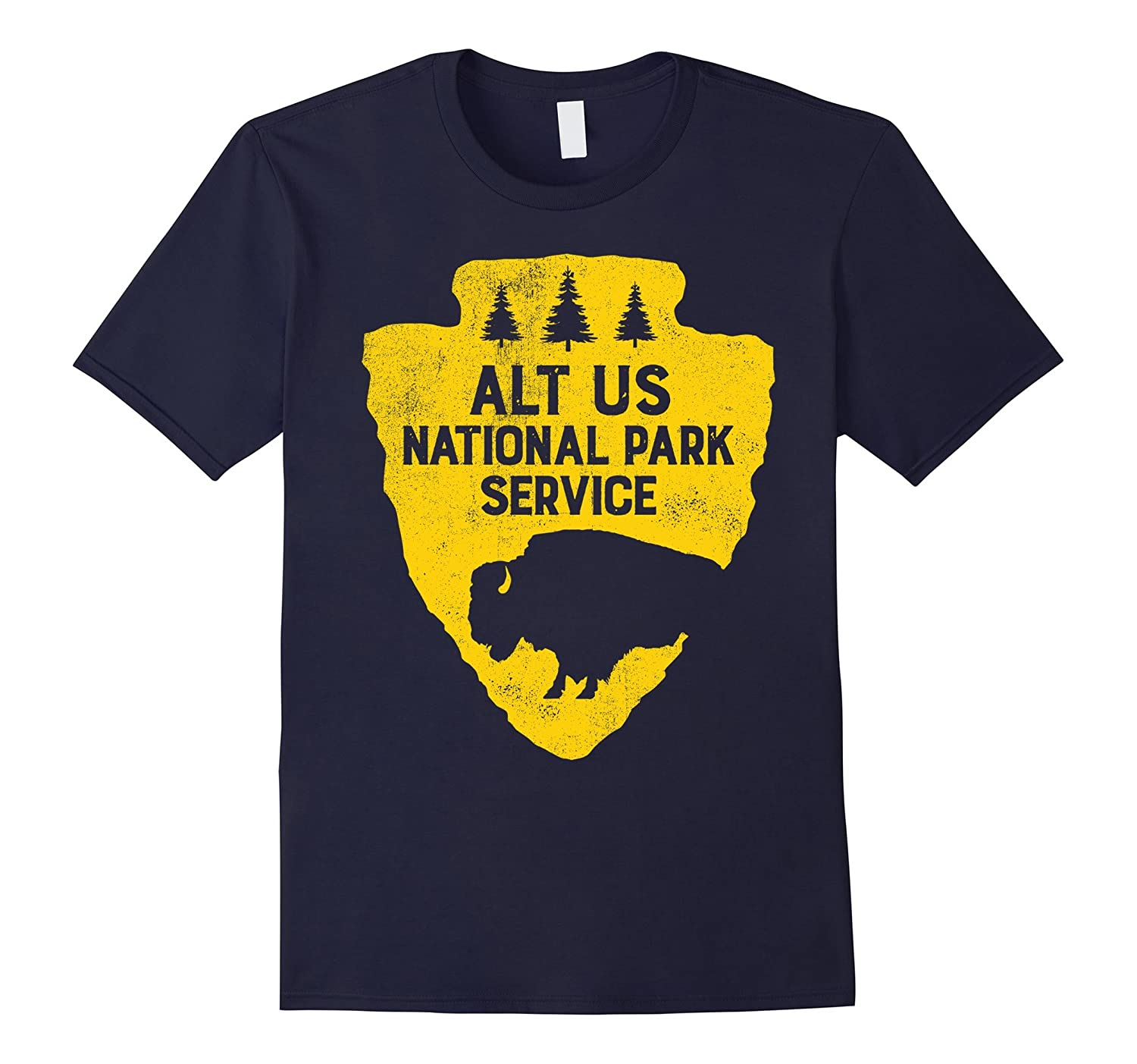 ALT US National Park Resist Service Bear Vintage T shirt-CL