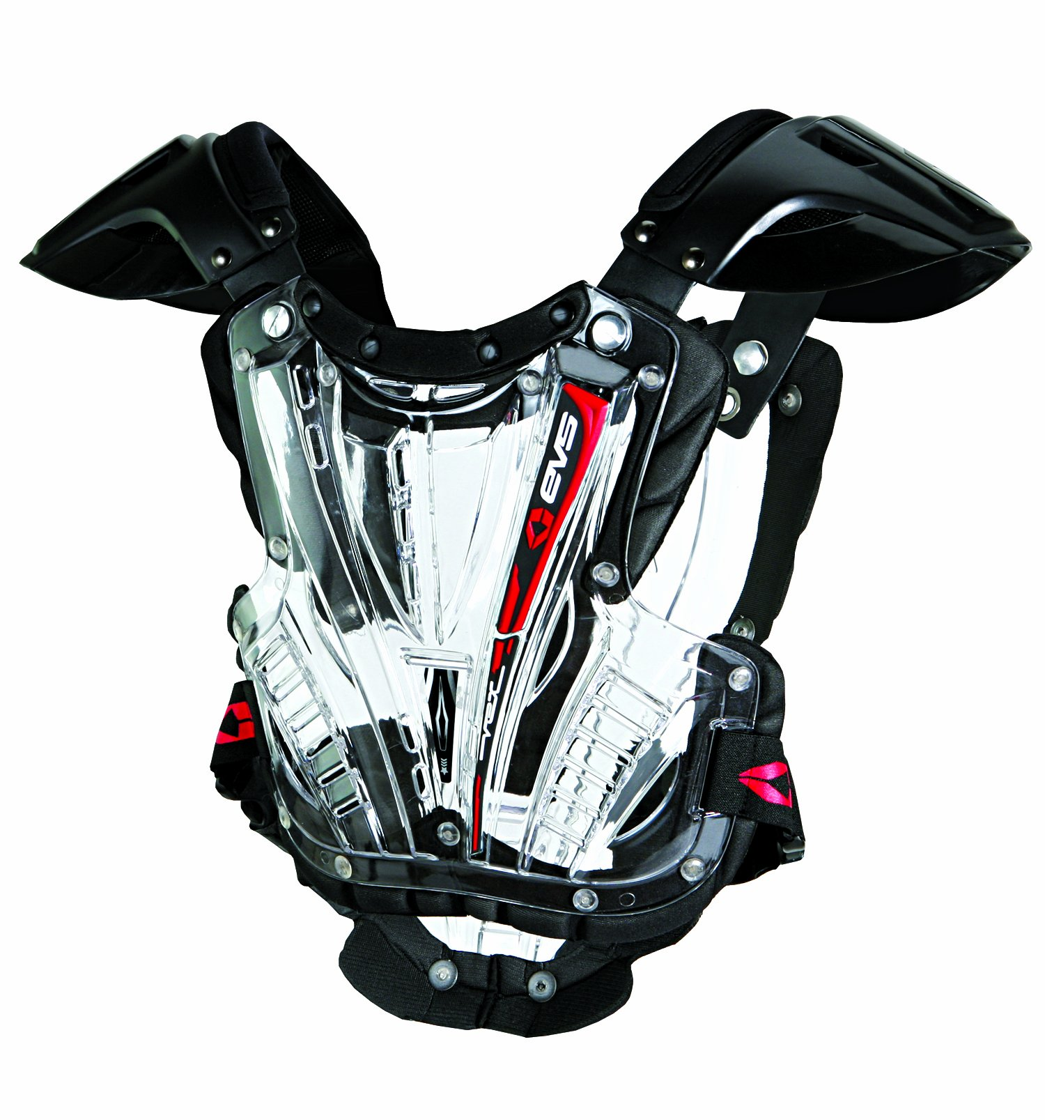 EVS  Sports VEXBK-M   VEX Chest Protector (Clear/Black, Medium)
