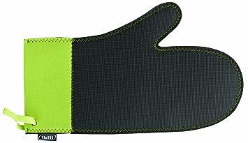 nuovo economico prezzo ragionevole Prezzo del 50% IBILI 780200 - Guanto da forno in neoprene, colore: Nero/Verde fluorescente