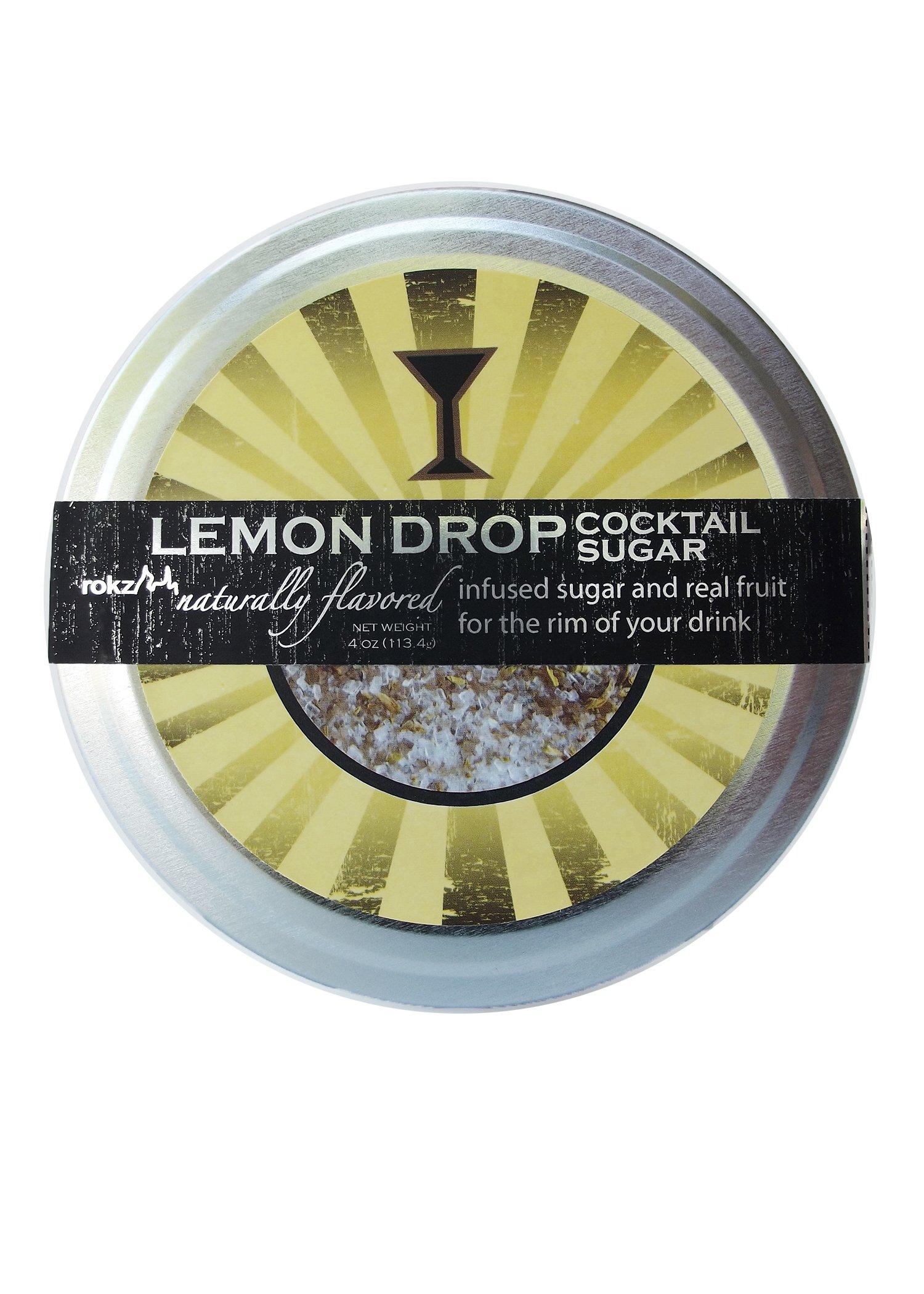 Rokz Design Group Infused Cocktail Sugar, Lemon Drop, 4 Ounce