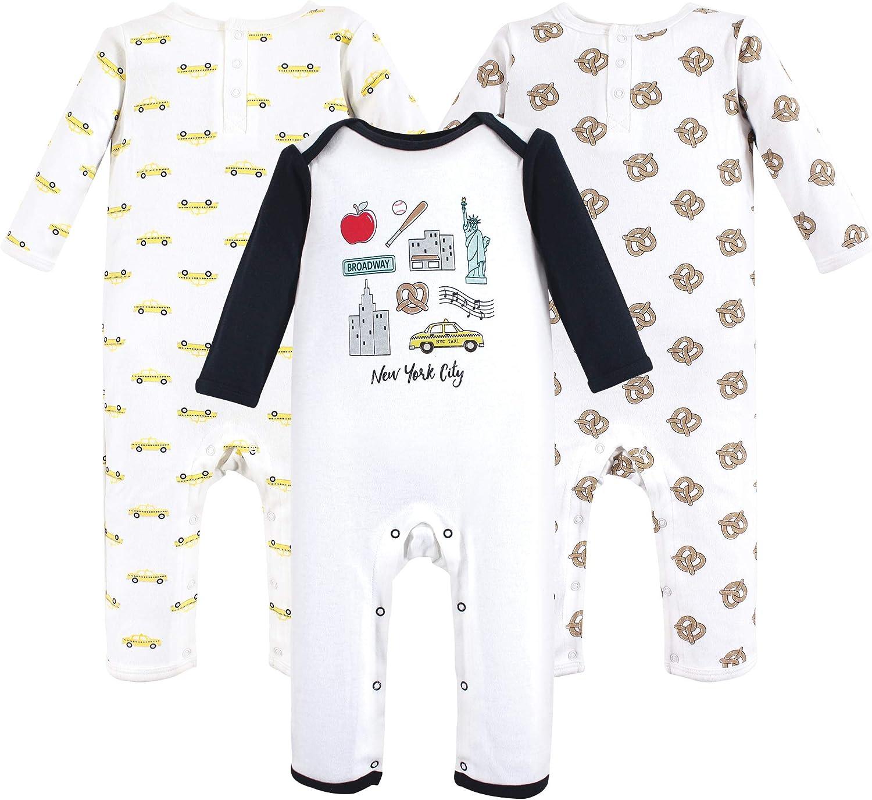 Hudson baby Baby-Boys Cotton Union Suit 3 Pack Layette Set