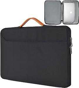15.6 Inch Laptop Bag, Men Women TSA Briefcase Laptop Sleeve with Organizer for Dell Inspiron 15 5000, HP Envy x360/Pavilion 15.6, Acer Aspire E15, ASUS Chromebook 15.6,Lenovo IdeaPad 3 15.6 Case,Black