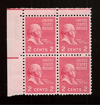 Amazon Com John Adams Set Of 4 X 2 Cent Us Postage Stamps