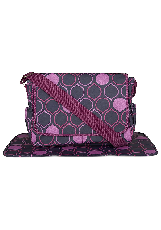 Mothercare Laminated Messenger Changing Bag, Drop Print G0091