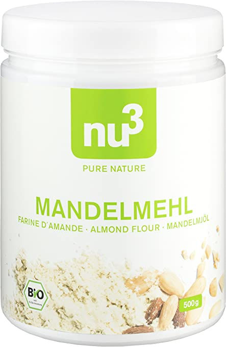 nu3 Harina de almendra ecológica - 500g - Ideal para cocinar y hornear sin gluten - Alternativa rica en proteína y baja en carbohidratos - Alto ...
