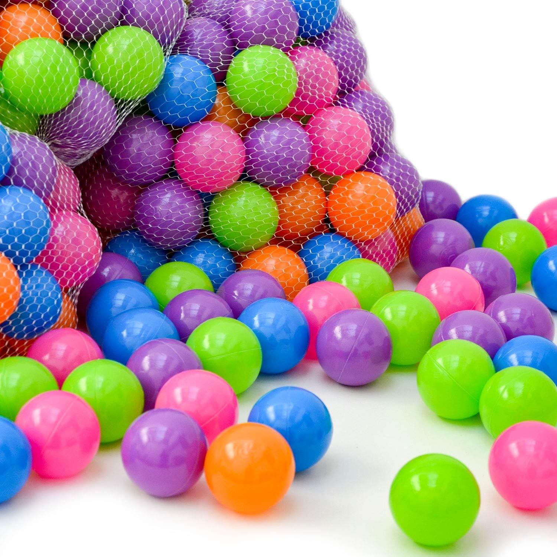 LittleTom 100 Pelotas de Color Ø 6 cm para llenar Piscinas de ...