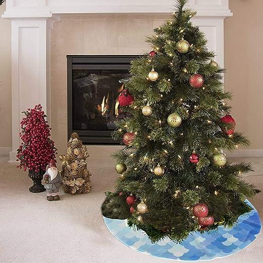 Falda de árbol de Navidad Colorido arte brillante Impresión de ...
