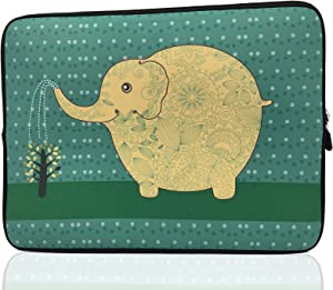 15-Inch to 15.6-Inch Laptop Sleeve Carrying Case Neoprene Sleeve (Elephant)