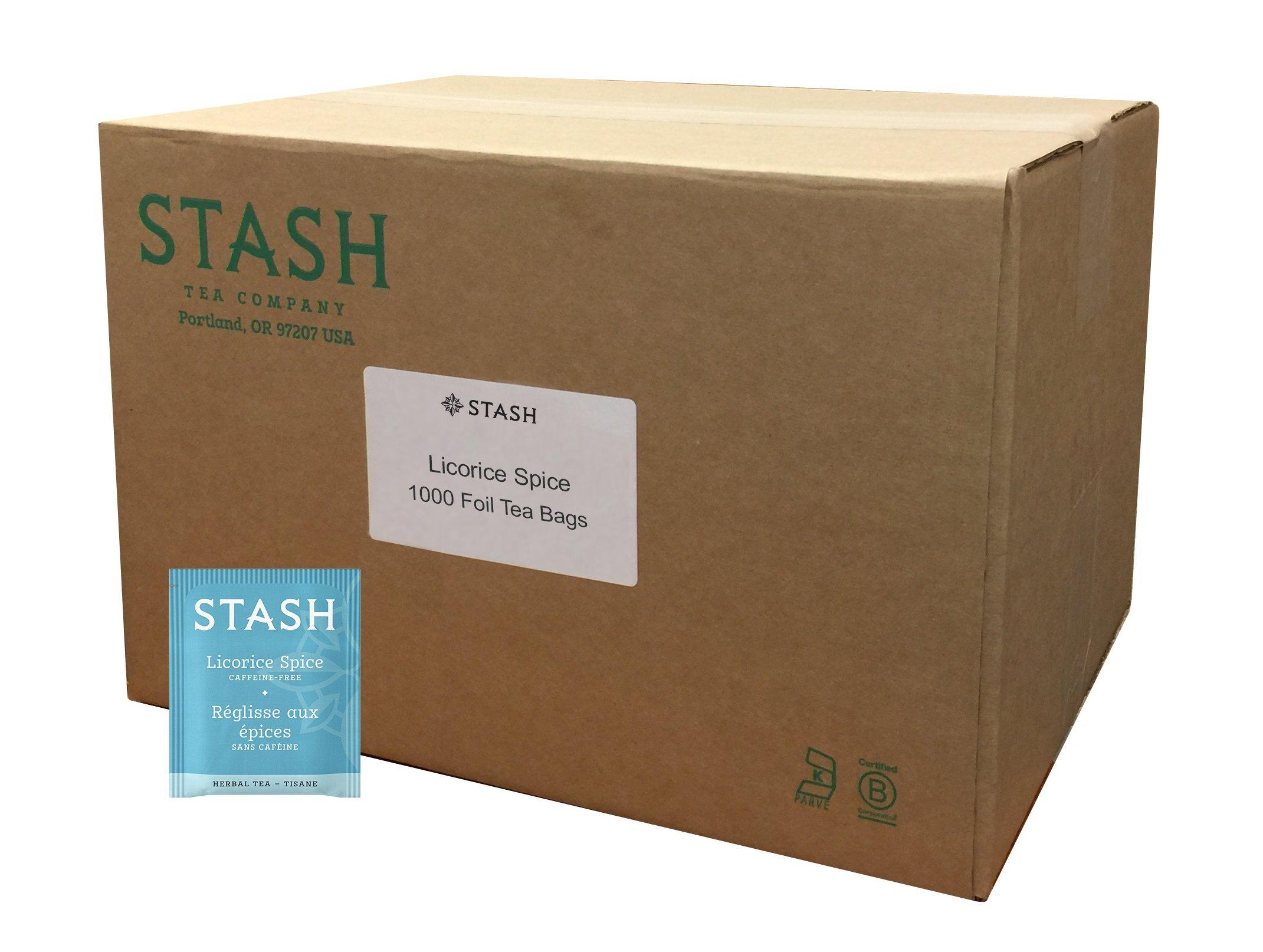 Stash Tea Licorice Spice Herbal Tea 1000 Tea Bags in 8.35 Count Tea Bags in Foil, Naturally Sweet Herbal Tisane, Zero Caffeine, Drink Hot or Iced by Stash Tea