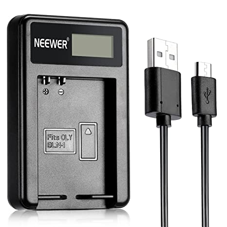 Neewer® NW-BLN1 Cargador de batería USB portátil Compatible con batería de cámara BLN-1 para Olympus BLN1, BCN1, Pen E-P5, OM-D E-M1, OM-D E-M5